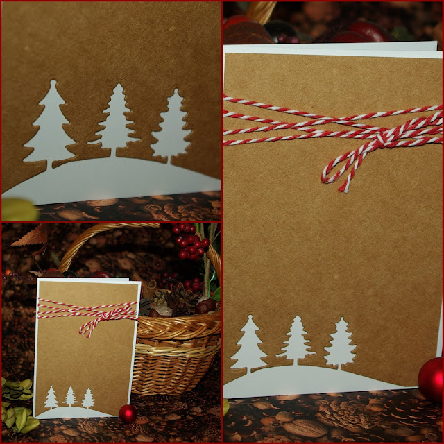 [DIY] Vintage Trees Last Minute Christmas Card  Last Minute Weihnachtskarte mit Vintage-Touch