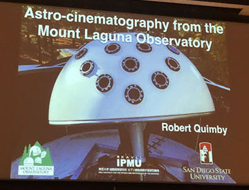 Professor Robert Quimby, UCSD, is featured OCA general meeting speaker (Source: Palmia Observatory)