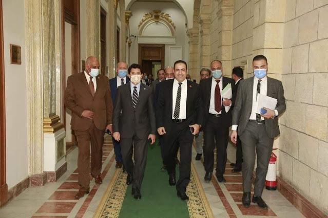 لجنة الشباب بالبرلمان تناقش إجراء تعديلات قانون الرياضة بحضور أشرف صبحي