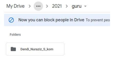 Pemisahan Folder di lokal storage dan GoogleDrive