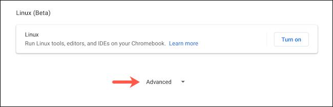 كشف الإعدادات المتقدمة على Chromebook