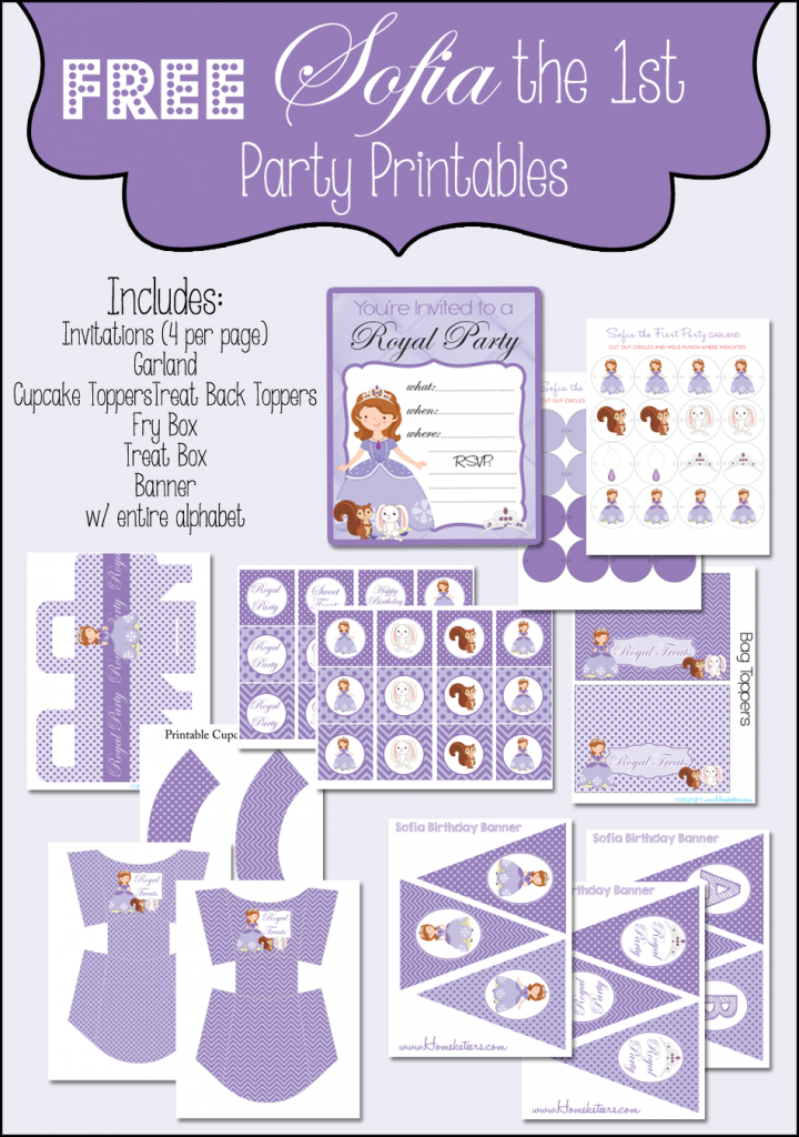Musings of an Average Mom: Sofia the First - Party Printables
