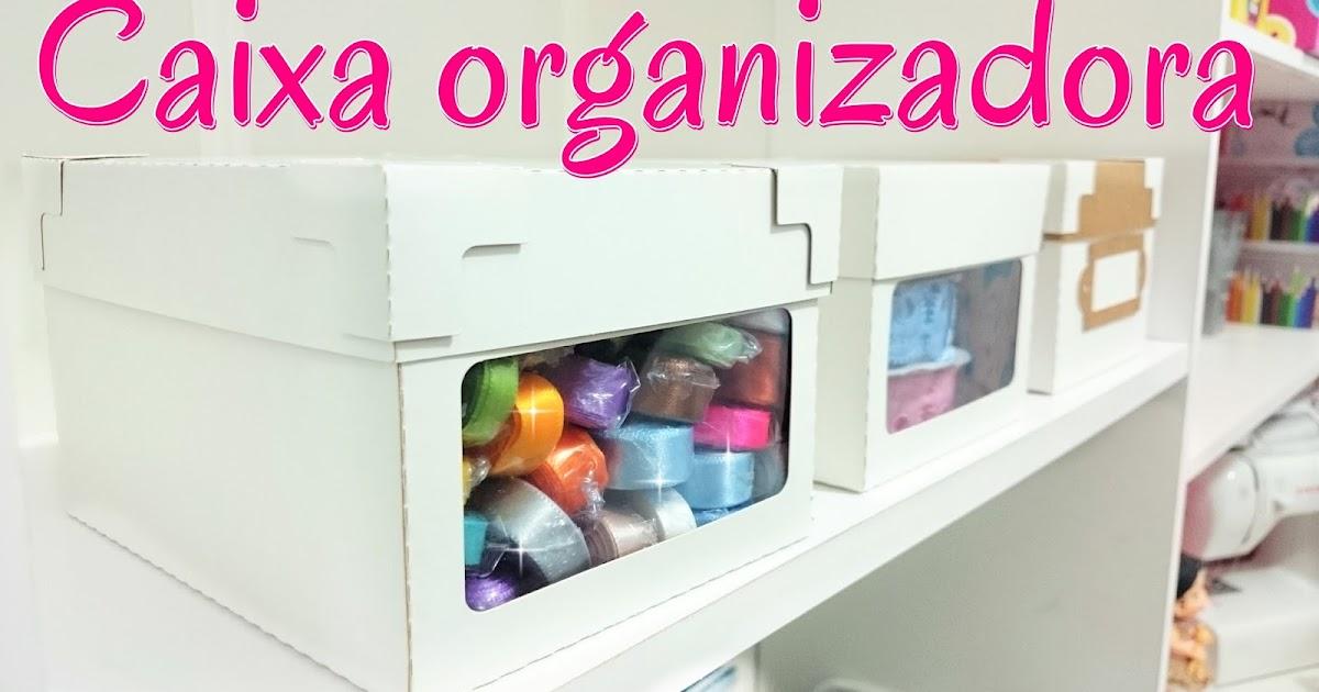 Aparador Madera Acacia ~ Artesanato Viviane Magalh u00e3es Como fazer caixa organizadora com moldes
