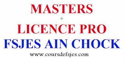 Pré-candidatures en ligne FSJES AIN CHOCK (Master et LP )