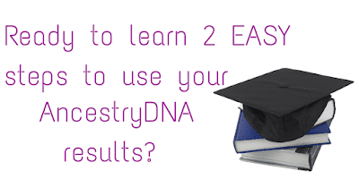 Just 2 powerful AND easy steps can get you results using your AncestryDNA results. Don't fight with complicated tools until you've tried this!