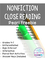 Nonfiction Close Reading Pearl Free Product