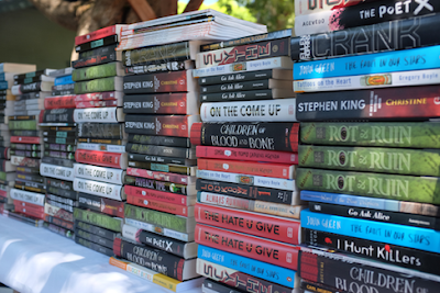 Image of books in the book truck