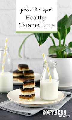 Paleo Vegan Healthy Caramel Slice Recipe
