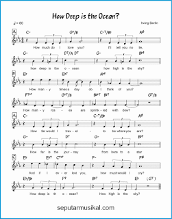 chord how deep is the ocean lagu jazz standar
