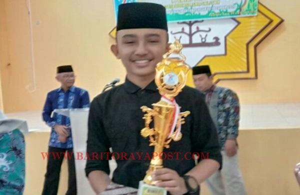 Pesantren SMP IT Alhuda Kembali Juara I Melukis Kaligrafi Provinsi Kalteng