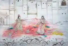 রাধা কৃষ্ণের হোলির ছবি