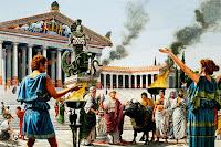 testo e immagini su Atene, la culla della democrazia