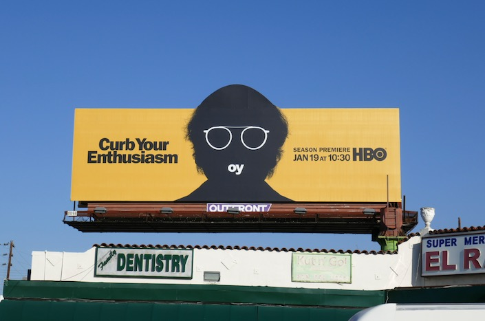 Curb Your Enthusiasm season 10 cut-out billboard