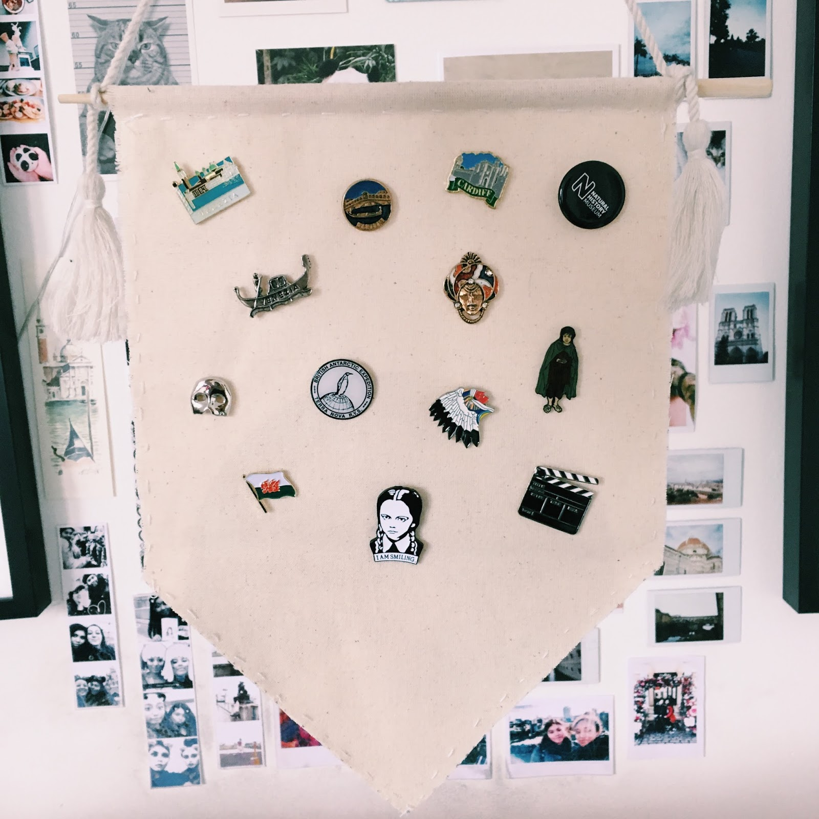 Teen DIY: DIY Enamel Pin Display Banner