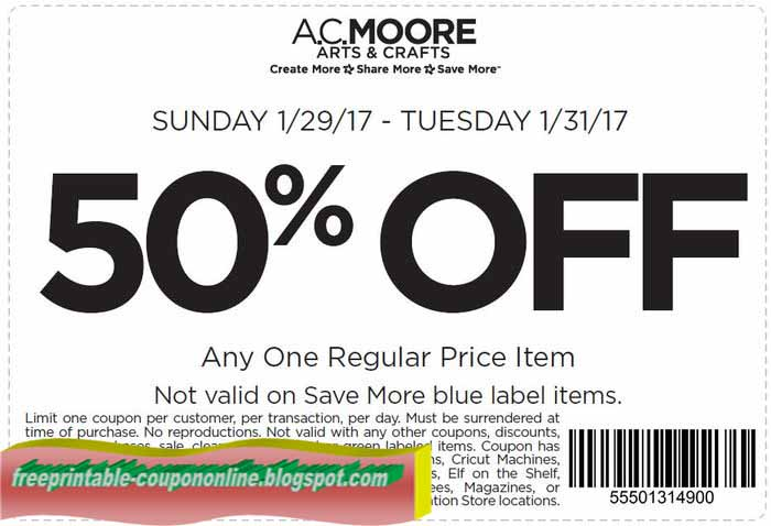 printable coupons 2017 ac moore coupons
