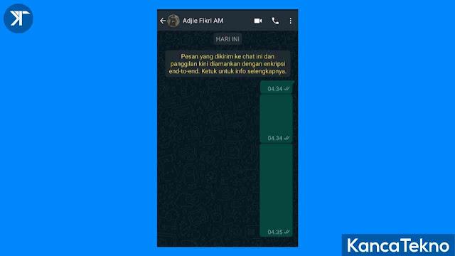 Cara Membuat Tulisan Pesan Kosong WhatsApp