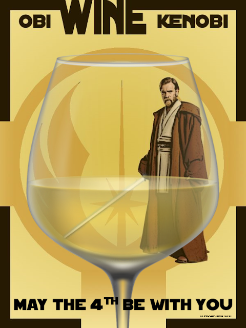 OBI WINE KENOBI - MAY THE 4TH BE WITH YOU by ©LeDomduVin 2021