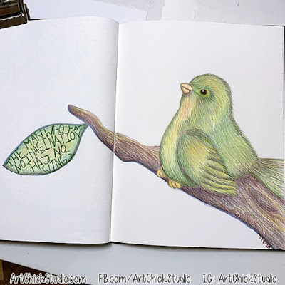 Art Journal Bird