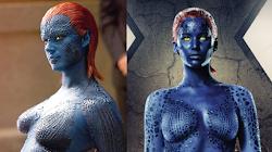 Hoá trang vai diễn cho Jennifer Lawrence trong phim X-Men là một kiệt tác đầy sự khó chịu