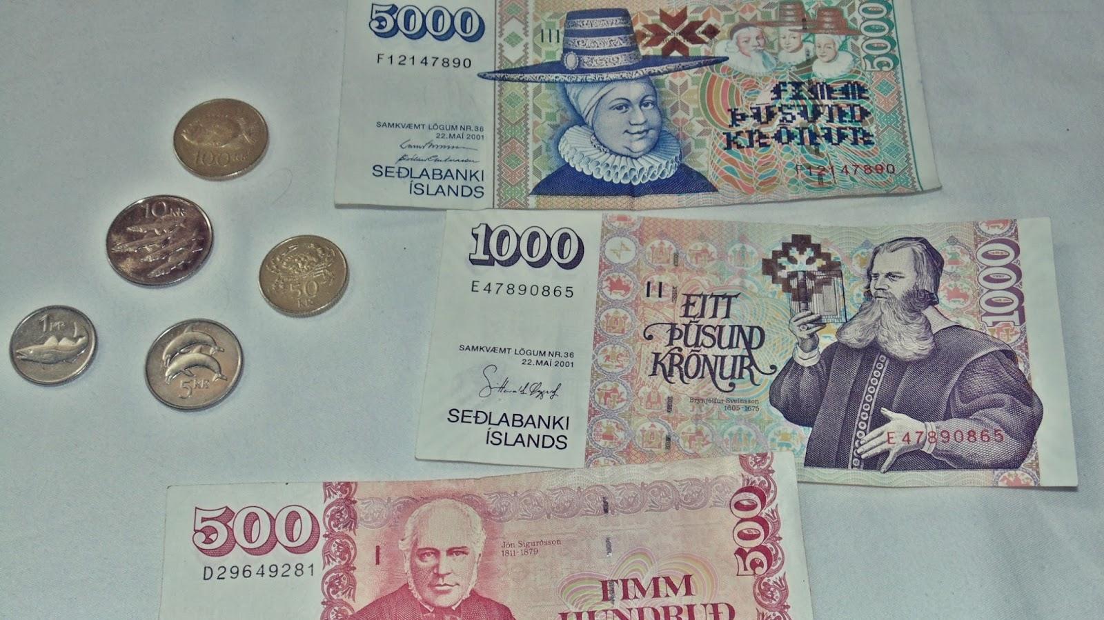 pieniądze w Islandii, korona islandzka, ile się zarabia w Islandii