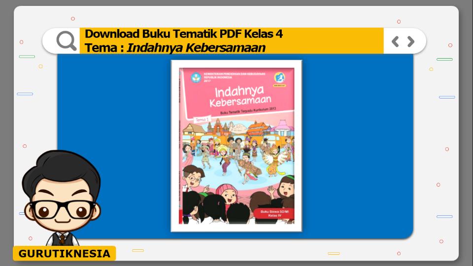 download gratis buku tematik pdf kelas 4 tema indahnya kebersamaan
