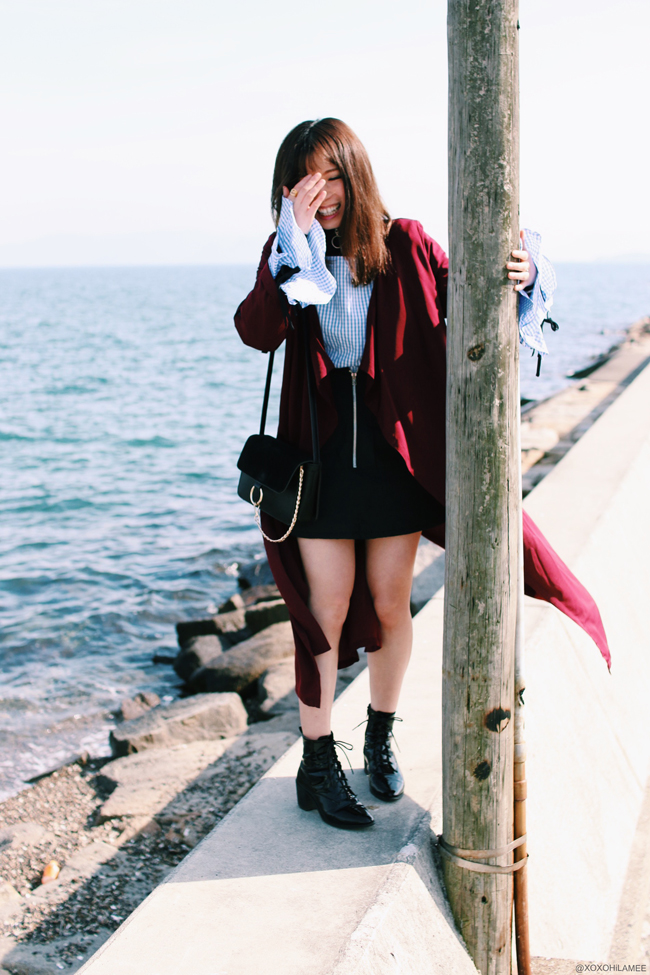 Japanese Fashion Blogger,MizuhoK & KanahoM, hang out,cafe,sea,fun,laugh,selfie,tree,art,photo shooting