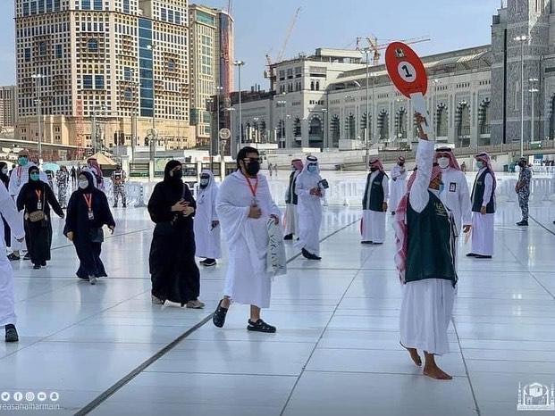 Haji 2021 Dimulai, Jamaah Melaksanakan Tawaf Qudum