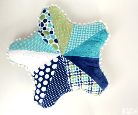Multi Fabric Starfish Pillow Idea