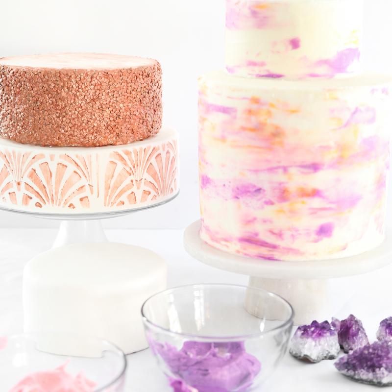 Three Easy and Trendy Ways to DIY a Wedding Cake Sprinkle Bakes