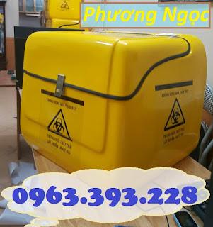 Thùng vận chuyển rác thải y tế, thùng chở chất thải y tế sau xe máy 2e0f3b13de2e3c70653f
