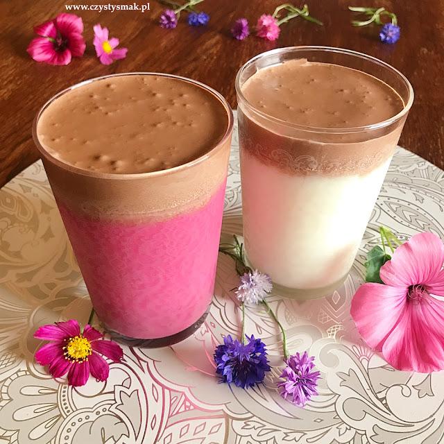 Dalgona kakao słodzone erytrolem i z różowym mlekiem