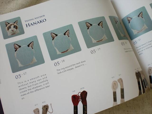 Hiroko Kubota, кошки вышитые, вышивка гладью кошек