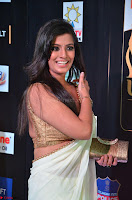 Varalakshmi in Cream Saree Sleeveless Backless Deep Neck Choli at IIFA Utsavam Awards March 2017 002.JPG