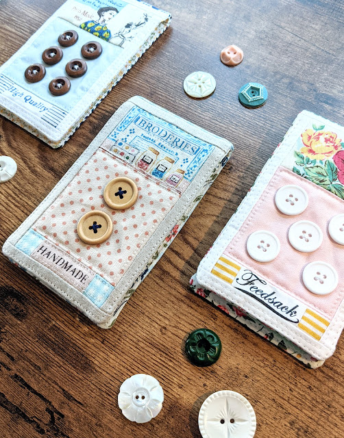 Button Card Needlebook Tutorial by Heidi Staples of Fabric Mutt