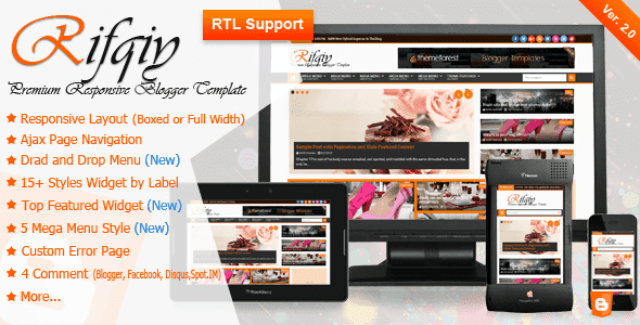 Rifqiy Responsive New and Magazine Blogger template Free Download