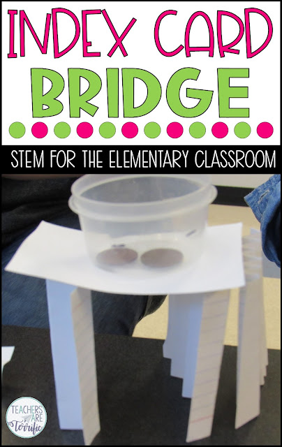 STEM Challenges- this post features tips and ideas for using bridge building challenges at five grade levels. #elementary #STEM #teachersareterrific
