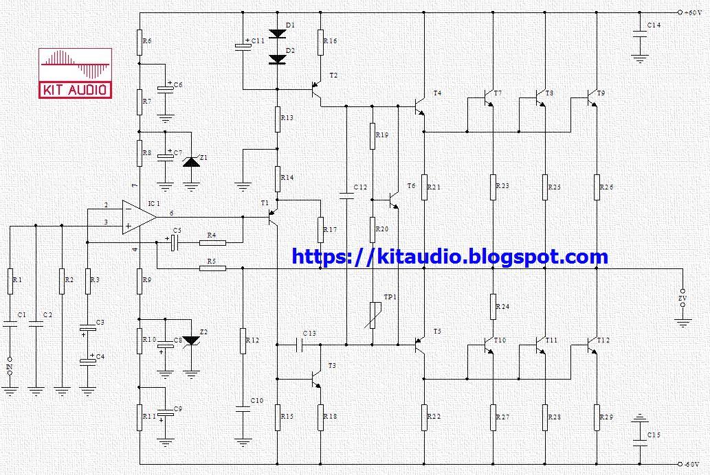 500w power amplifier circuit diagram