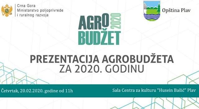 Plav: U četvrtak prezentacija agrobudžeta za poljoprivrednike