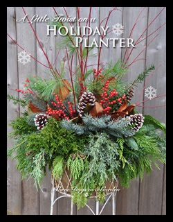 A Little Twist on a Holiday Planter
