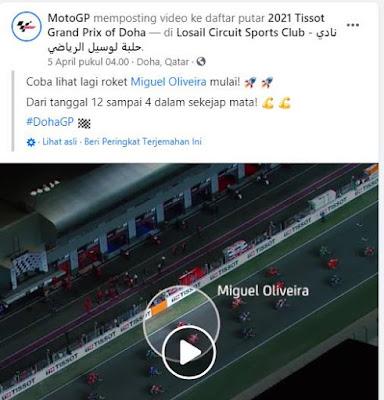 Dashboard Blank, Alasan Miguel Oliveira Gagal Bersaing Di Barisan Depan Pada GP Doha 2021
