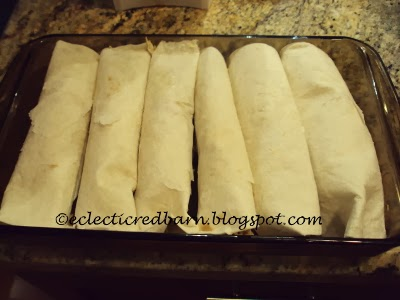 Eclectic Red Barn: Rolled Unbaked Enchiladas