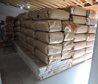 Part of the shipment of rice hulls.