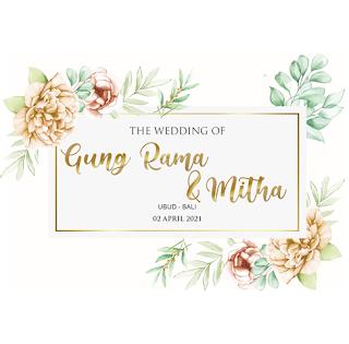 020421 THE WEDDING OF GUNG RAMA AND MITHA AT UBUD - GIANYAR - BALI