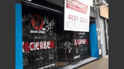 Una nueva muestra de la brutal crisis generada por el gobierno de Cambiemos: ochenta locales vacíos, en solo once cuadras de la avenida Córdoba