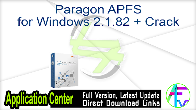 Paragon APFS for Windows 2.1.82 + Crack