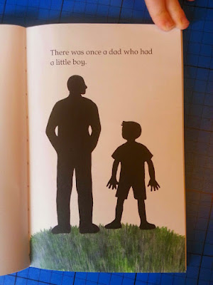 The Boy Who Made Things Up  silhouette of father and son