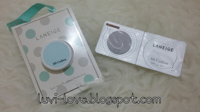 Luvi Love Laneige Cushion Pore Control Vs Whitening