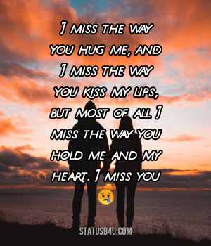 Miss You Status For Husband