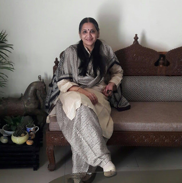 Artist Meenakshi Sharma in her living room