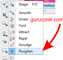 tutorial roughn tool corel draw